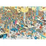 Puzzle  Jumbo-17466 Van Haasteren Jan: Massen an den Kassen