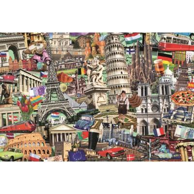 Puzzle  Jumbo-18355 Best of Europäische Städte