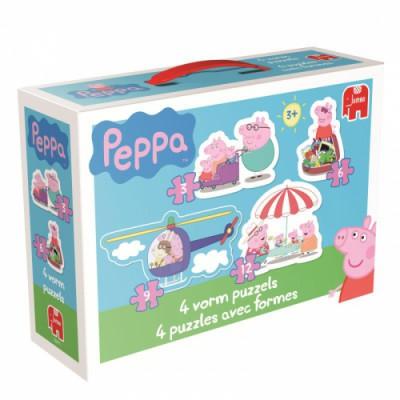 Jumbo-18471 4 Puzzles - Peppa Pig