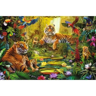 Puzzle  Jumbo-18525 Tigers