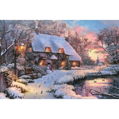 Puzzle  Jumbo-18526 Winter Cottage