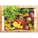 Puzzle  Jumbo-18531 Obst und Gemüsekiste