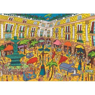 Puzzle  Jumbo-18561 Plaça Reial, Barcelona