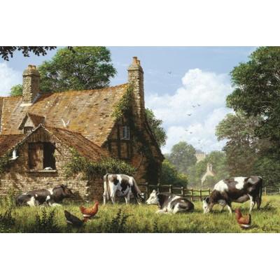 Puzzle  Jumbo-18579 Kühe auf einem Bauernhof