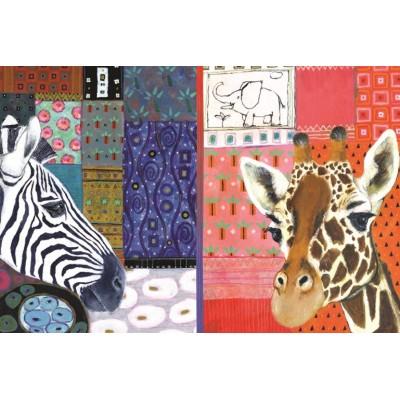 Puzzle  Jumbo-18585 Eugen Stross - Afrikanische Kunst