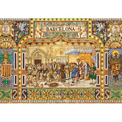 Puzzle  Jumbo-18590 Fliesen aus Barcelona