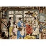 Puzzle  Jumbo-18599 XXL Teile - Anton Pieck - Der Lebensmittelhändler