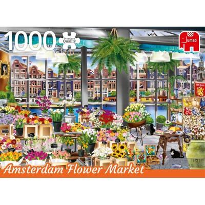 Puzzle  Jumbo-18810 Amsterdam Flower Market