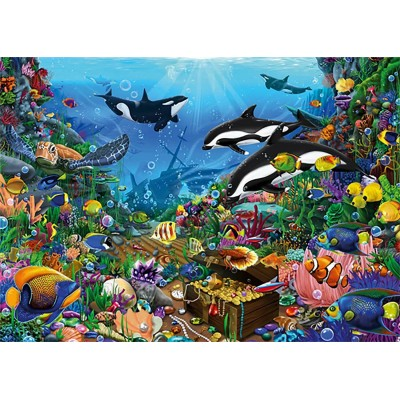 Puzzle  Jumbo-18814 Jewels of The Deep