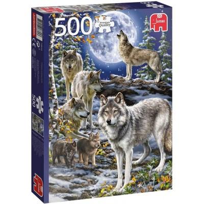 Puzzle  Jumbo-18845 Wolfsrudel im Winter