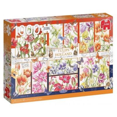 Puzzle  Jumbo-18852 Tulpen aus Holland