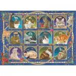 Puzzle  Jumbo-18853 Francien - Cat Horoscope
