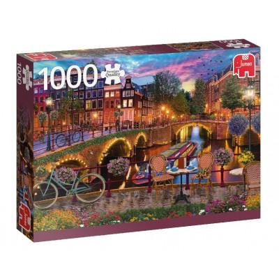 Puzzle  Jumbo-18860 Amsterdamer Kanäle