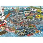 Puzzle  Jumbo-19012 Jan van Haasteren - Seehafen