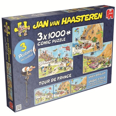 Jumbo-19019 3 Puzzles - Jan van Haasteren: Tour de France