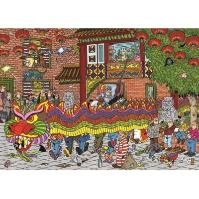 Puzzle  Jumbo-19031 Jan Van Haasteren - Chinesisches Neujahrsfest
