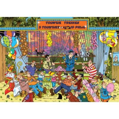Puzzle  Jumbo-19036 Jan Van Haasteren - Seilziehen