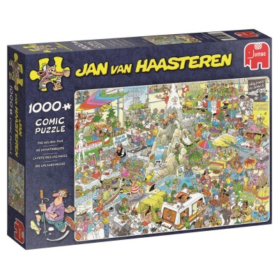 Puzzle  Jumbo-19051 Jan Van Haasteren - Die Urlaubsmesse