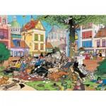 Puzzle  Jumbo-19056 Jan Van Haasteren - Fang die Katze!