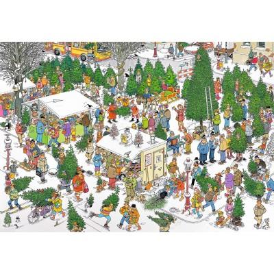 Puzzle  Jumbo-19062 Van Haasteren Jan - Weihnachtsbaummarkt