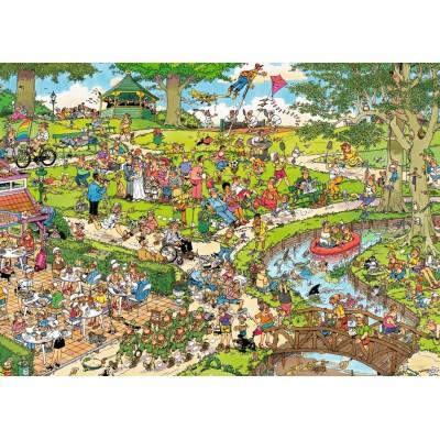 Puzzle  Jumbo-19070 XXL Teile - Jan Van Haasteren - The Park