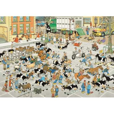 Puzzle  Jumbo-19075 Jan Van Haasteren - Der Viehmarkt
