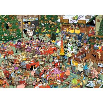 Jumbo-19080 2 Puzzles - Jan Van Haasteren - Weihnachtsessen