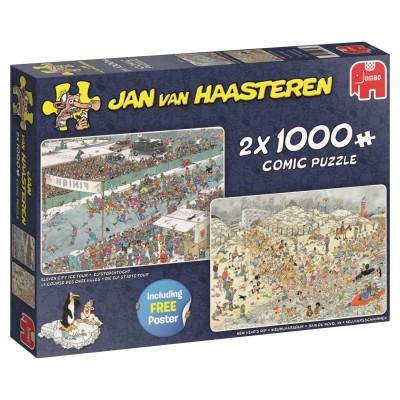 Puzzle  Jumbo-19081 Jan van Haasteren - Eleven City Icetour & New Year's Dip