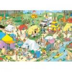 Puzzle  Jumbo-19086 Jan Van Haasteren - Camping im Wald