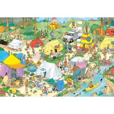 Puzzle  Jumbo-19087 Jan Van Haasteren - Camping im Wald