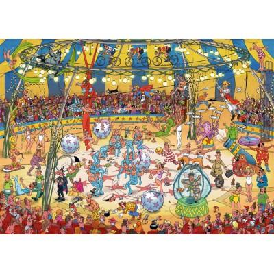 Puzzle  Jumbo-19089 Jan Van Haasteren - Zirkus-Akrobatik