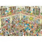 Puzzle  Jumbo-19092 Jan Van Haasteren - Die Bibliothek