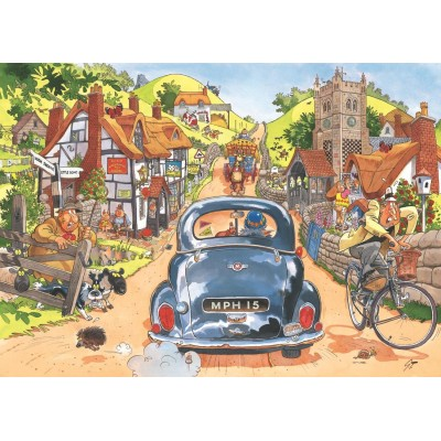 Puzzle  Jumbo-19146 Wasgij Retro Original 1 - Sonntagsfahrer!