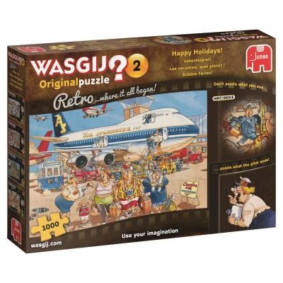 Puzzle  Jumbo-19153 Wasgij Original Retro 2 - Schöne Ferien!