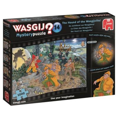 Puzzle  Jumbo-19158 Wasgij Mystery 14 - Der Hund von Wasgijville!