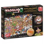 Puzzle  Jumbo-19162 Wasgij Christmas 14 - Die Kleinen Helfer des Weihnachtsmannes!