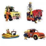 Jumbo-19275 4 Puzzles - Feuerwehrmann Sam