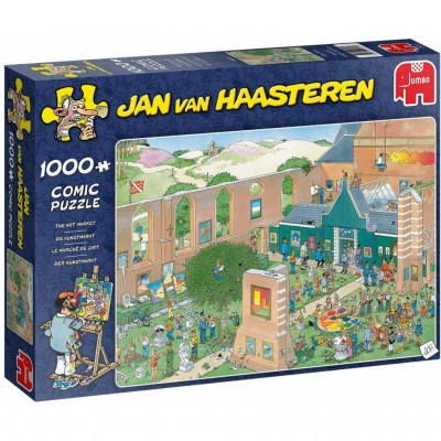 Puzzle  Jumbo-20022 Jan van Haasteren - The Art Market