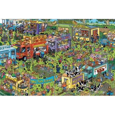 Puzzle  Jumbo-20042 Jan van Haasteren - Food Truck Festival