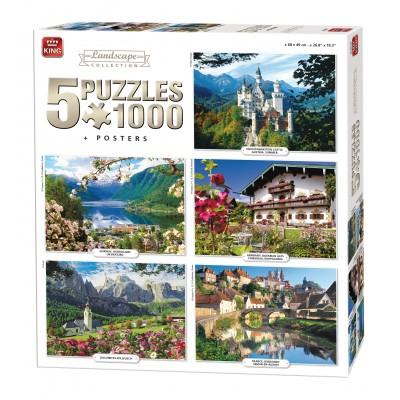 King-Puzzle-05209 5 Puzzles - Landscape Collection