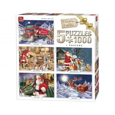 King-Puzzle-05219 5 Puzzles - Weihnachten