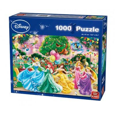 Puzzle King-Puzzle-05261 Disney Prinzessinnen - Feuerwerk