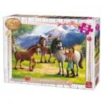 Puzzle  King-Puzzle-05298 Girls & Horses