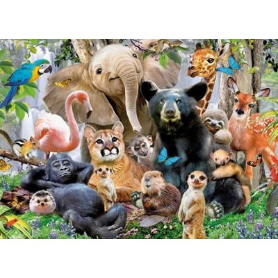 Puzzle  King-Puzzle-05484 Jungle Party
