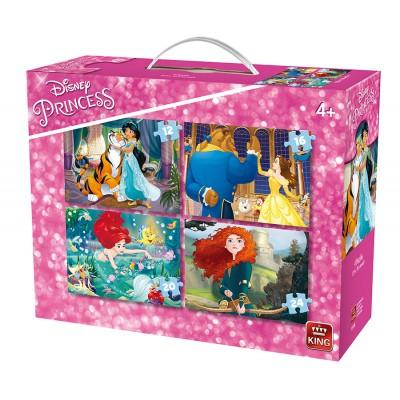 King-Puzzle-05508 4 Puzzles - Disney Princess