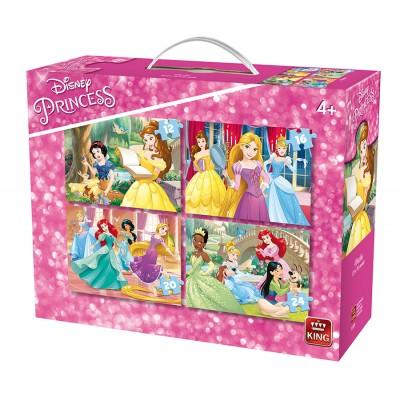 King-Puzzle-05509 4 Puzzles - Disney Princess