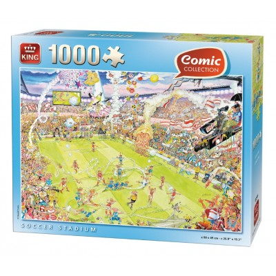 Puzzle  King-Puzzle-05546 Fußballstadion