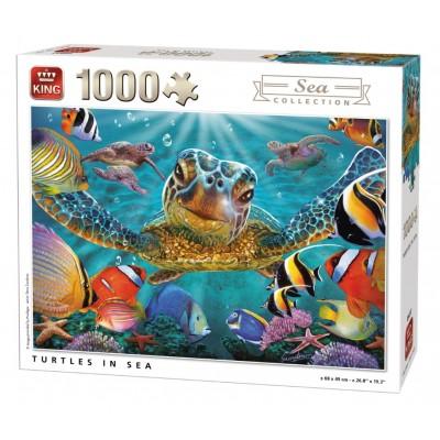 Puzzle  King-Puzzle-05617 Schildkröten im Meer