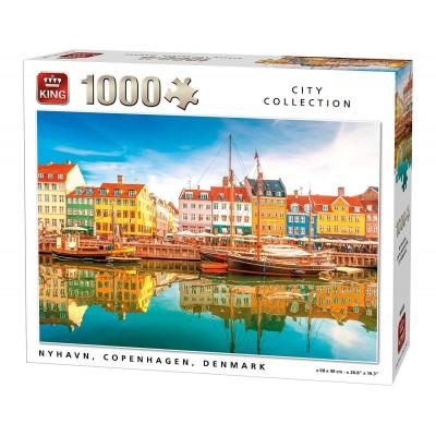 Puzzle  King-Puzzle-05704 Nyhavn, Kopenhagen, Dänemark