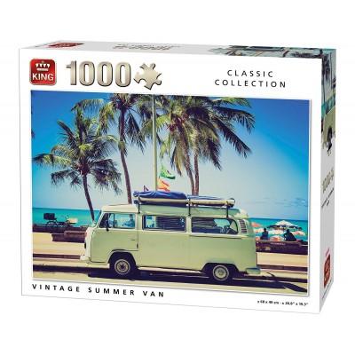 Puzzle  King-Puzzle-05719 Vintage Summer Van